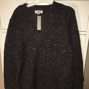 J crew men's wool sweater with elbow patch